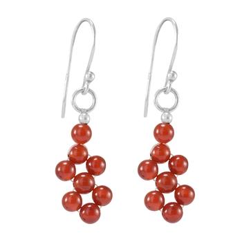 Orange carnelian earrings