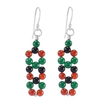 Multicolor carnelian earrings