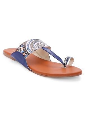 Women Ethnic Diva Print Kolhapuri Shoes