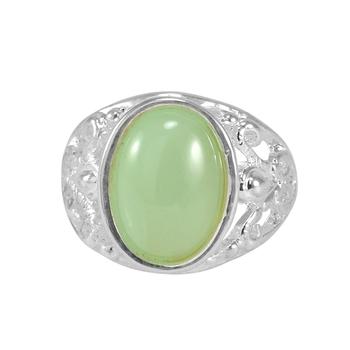 Green crystal rings
