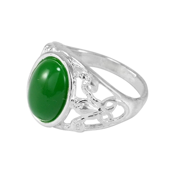 Green crystal rings