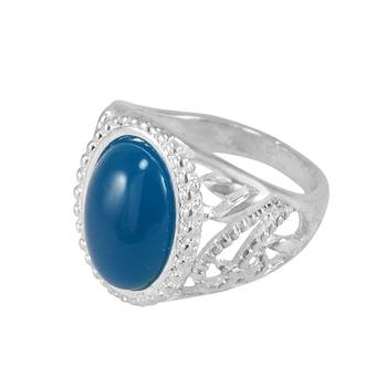 Blue crystal rings