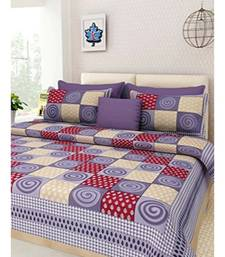 Grey Chakri Print King Size Bedsheet with 2 Pillow Cover