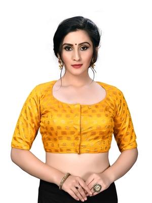 Yellow Women's Embroiderey Jacquard Blouse