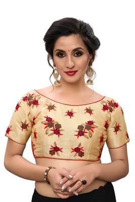 Multicolor Women's Embroiderey Silk Blouse