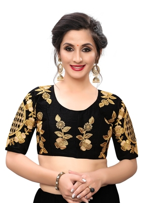 Black Women's Embroiderey santoon Blouse