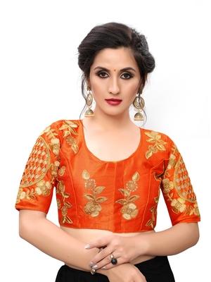 Orange Women's Embroiderey santoon Blouse