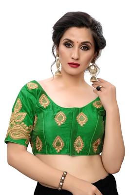 Green Women's Embroiderey santoon Blouse