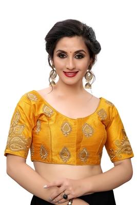 Yellow Women'S Embroiderey Santoon Blouse