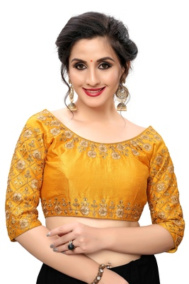 Yellow Women'S Embroiderey Santoon Blouse