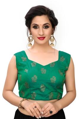 Green Women's Printed Silk Blouse