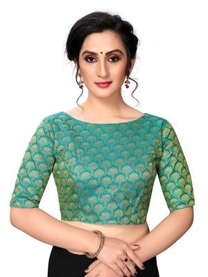 Green Women's jacquard  Blouse