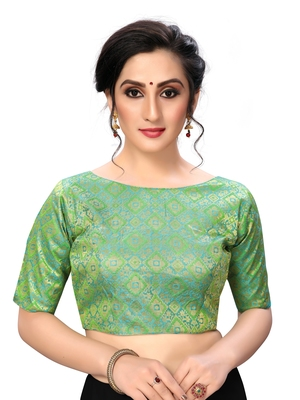 Green Women's jacquard  Blouse