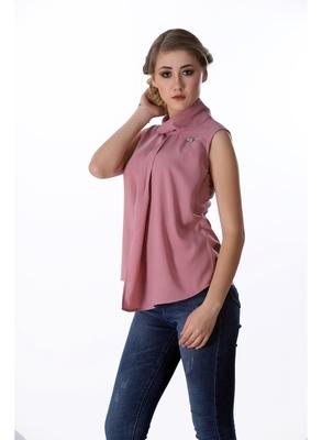 Pink plain cotton sleeveless-tops