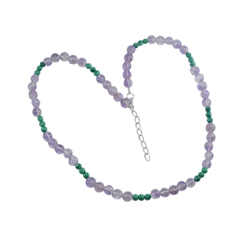 Multicolor malachite necklaces