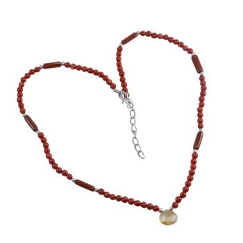Multicolor citrine necklaces
