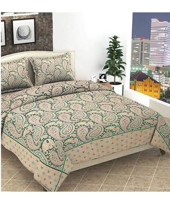 Premium quality soft touch chenille Jacquard woven heavy double bedsheet with two pillow covers.