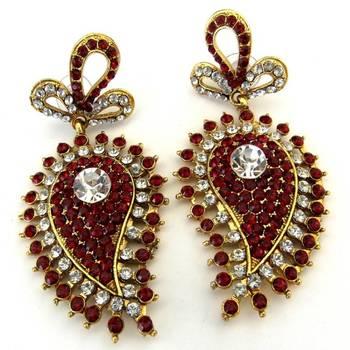 Red Ambi Earrings