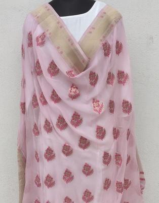 Pink Georgette Dupatta