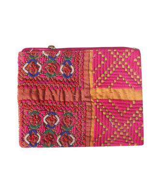 Women Multi-Colour cotton Clutch