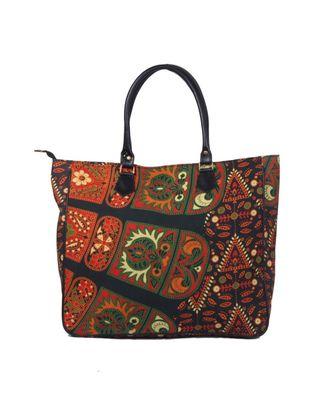 Indian Handmade cotton Black Mandala Sholder Bag