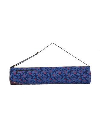 Indian Handmade cotton Blue Mandala Yoga  Bag