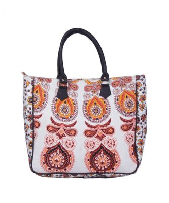 Indian Handmade cotton Brown Mandala Sholder Bag
