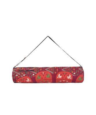 Indian Handmade cotton Orange Mandala Yoga  Bag
