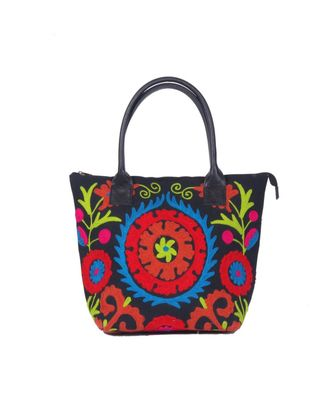 Indian Handmade cotton Red Suzani Bag
