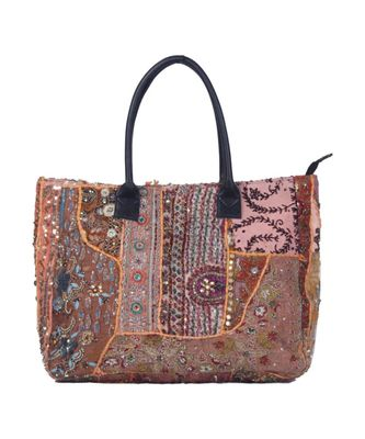 Indian Handmade cotton Brown Khambadiya Sholder Bag