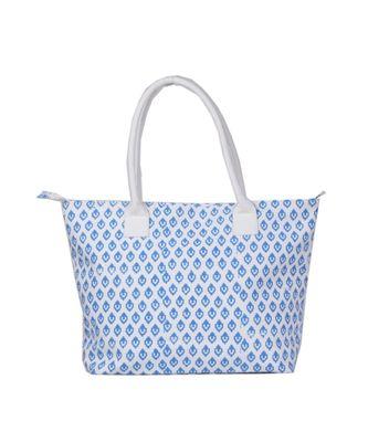 Indian Handmade cotton Blue Canwas Print Sholder Bag