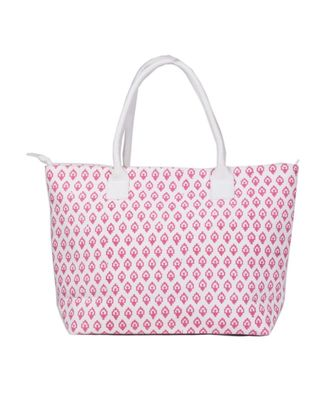 Indian Handmade cotton Pink Canwas Print Sholder Bag