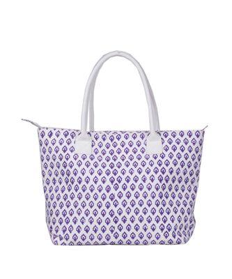 Indian Handmade cotton Purple Canwas Print Sholder Bag