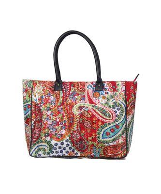 Vintage Handmade Phaisely Print asian art Women Hand Bag