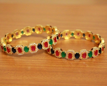 Multicolor ruby bangles-and-bracelets