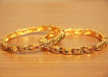 Gold ruby bangles-and-bracelets