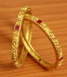 Gold Ruby       Bangles-And-Bracelets