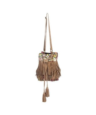 Vintage Pakisthani choli Sweep leather Shoulder Bag