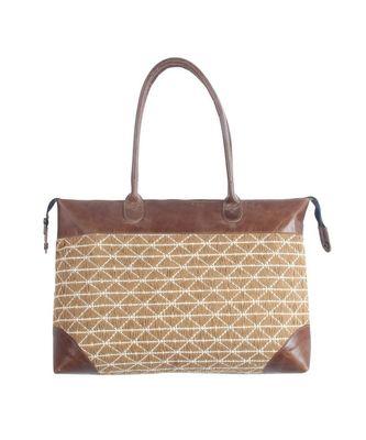 Vintage Dari Fabric Sweep leather Hand Bag