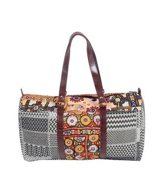 Vintage Pakisthani choli Sweep leather Hand Bag