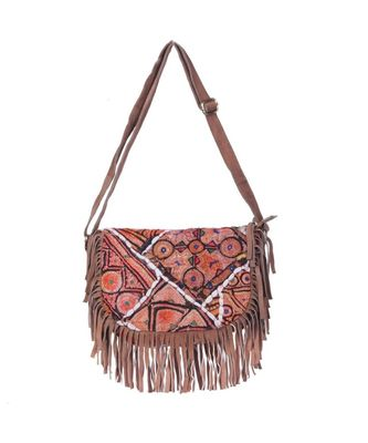 Indian Handmade cotton Orange   Bag