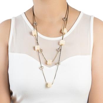 Cream necklaces