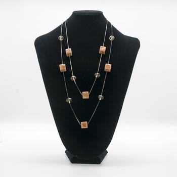Peach necklaces