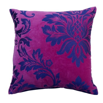 Reme  Embroidered Pink Velvet Single Cushion cover