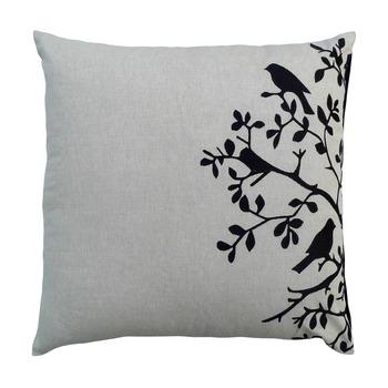 Reme  Embroidered White Velvet Single Cushion cover