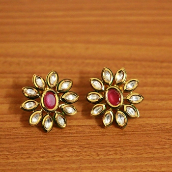 Red Ruby       Studs