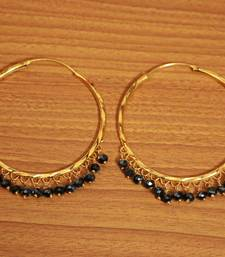 Black Crystal Gold Look Hoops