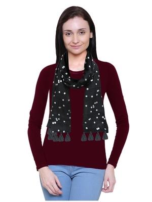 black printed Polyester scarf
