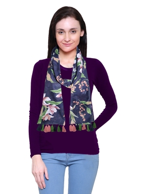 multicolor printed Polyester scarf