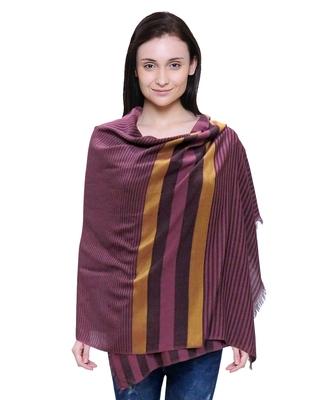 purple woven Viscose scarf